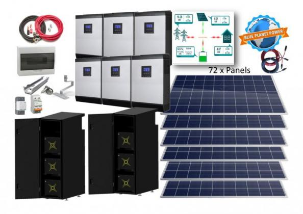 30kW 3 Phase System with 44,4kWh lithium-ion battery
