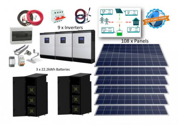 45kW 3 Phase System with 59,4kWh Lithium-ion Battery