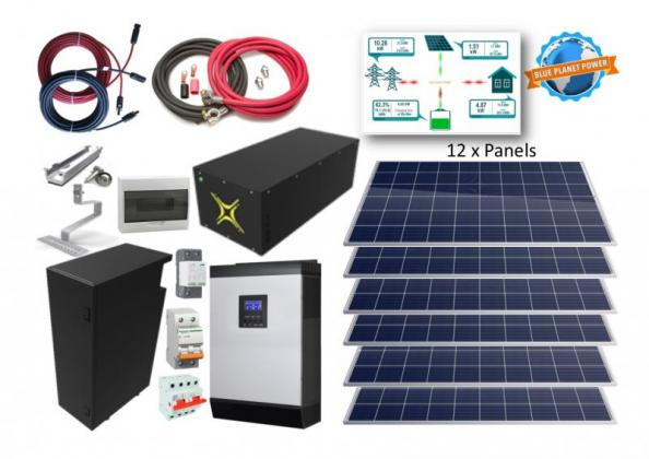 5kW Single Phase System with 7.4kWh Lithium-Ion Battery