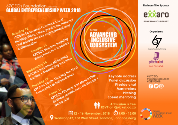 67CEO's Global Entrepreneurs Week in Midrand, Gauteng