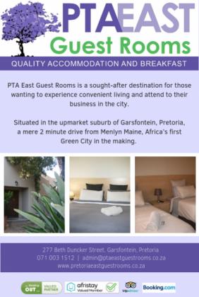 Affordable Bed and Breakfast in Pretoria-Tshwane, Gauteng