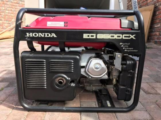 Honda EG6500CX generator for sale for R 12000.00. - Barely been used