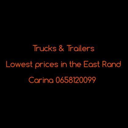Trucks & Trailers .. Christmas specials in October in Boksburg, Gauteng