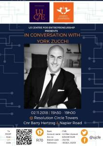 IN CONVERSATIONS WITH YORK ZUCCHI (UJ CENTRE FOR ENTREPRENEURSHIP)