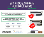 Curtain Holdback Arms