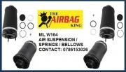 Front and rear air suspension for Mercedes Ml w164