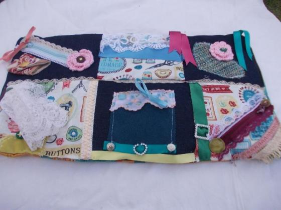Alzheimer fidget aprons, blankets, cushions and quilts