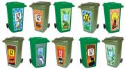 Stylish bin graphics