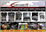 CHROME IT CHROME SPRAY SYSTEMS & CHEMICALS FOR SALE - VARIOUS MODELS