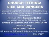 Church Tithing: LIES AND DANGERS Presentation/Seminar