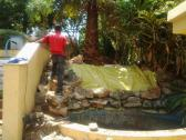 WE build new waterfall - KOI FISH PONDS AND POOLS