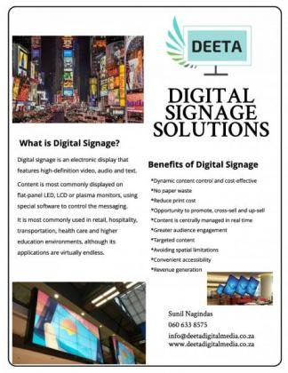 Digital Signage to advertise your business