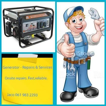 REPAIRS & SERVICES - ALL GENERATOR MAKES & OTHER MACHINERY. PTA AREA