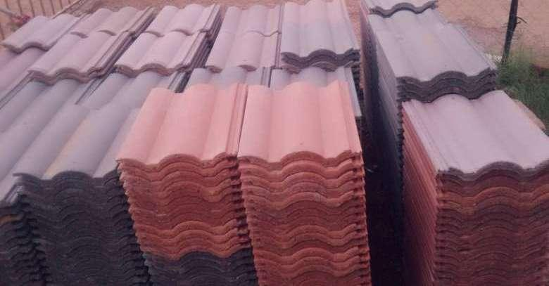 Double Roman Roof Tiles Tapered Ridges Timber Hip