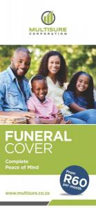 Funeral cover from R60 a month