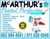 McArthurs's Painted Perfection: Interior, Exterior, Roof Coating / Painting