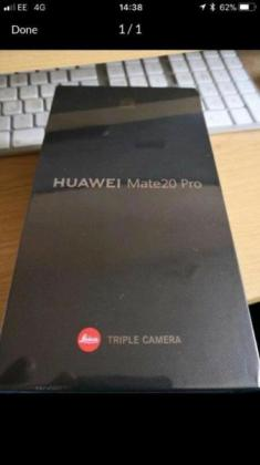 128GB Huawei Mate 20 Pro Black Brand New In The Box
