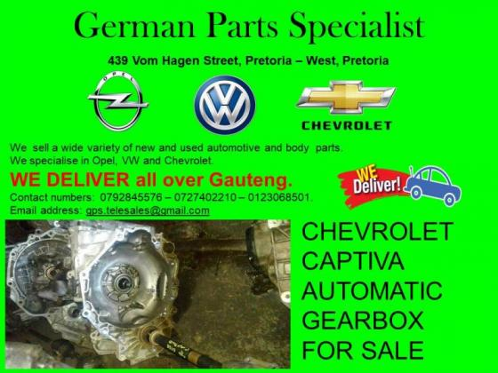 CHEVROLET CAPTIVA AUTOMATIC GEARBOX FOR SALE
