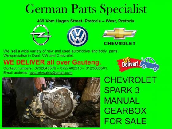 CHEVROLET SPARK 3 MANUAL GEARBOX FOR SALE
