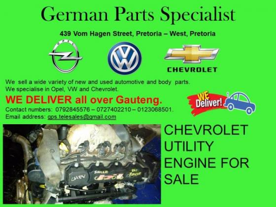 CHEVROLET UTILITY ENGINE FOR SALE