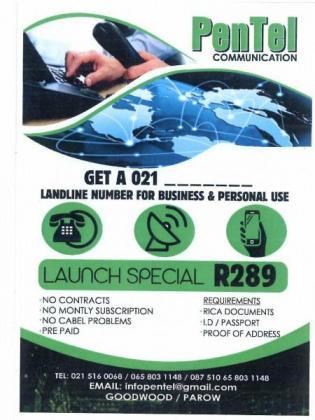 GET IT NOW 021 LANDLINE NUMBER in Goodwood, Western Cape