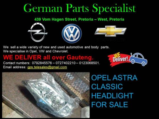 OPEL ASTRA CLASSIC HEADLIGHT FOR SALE