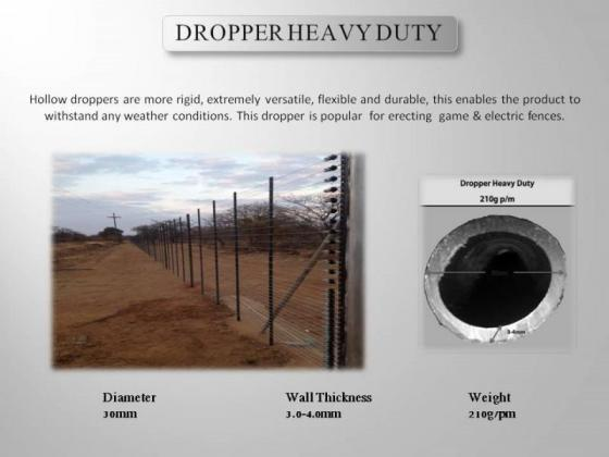 LESS 35% DISCOUNT ON ALL Plastic HDPE Droppers & Y-Pole Replacement poles