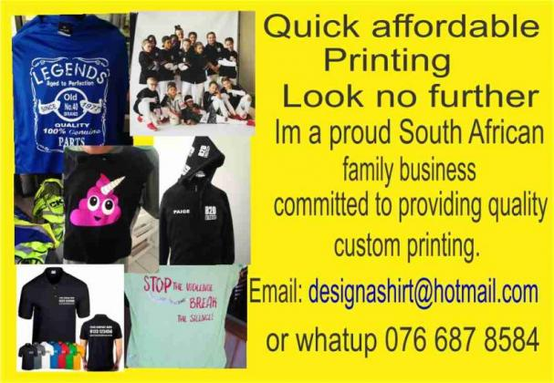 Tshirt Printing and Embroidery services