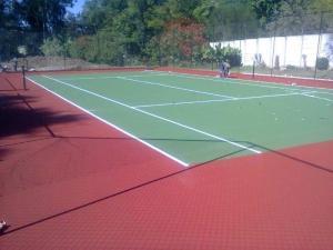 Tennis court construction and resurfacing, Netball court construction, Basketball court construction
