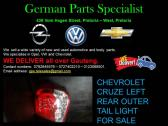 CHEVROLET CRUZE LEFT REAR OUTER TAIL LIGHT FOR SALE