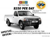 Vehicle Hire from only R175 per day!