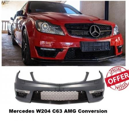 Mercedes W204 C63 AMG Look Front bumper for standard W204 models