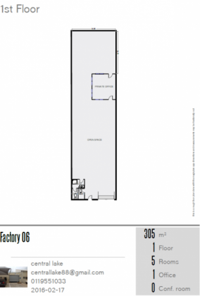 280m² factory / warehouse unit to let in Krugersdorp, Factoria