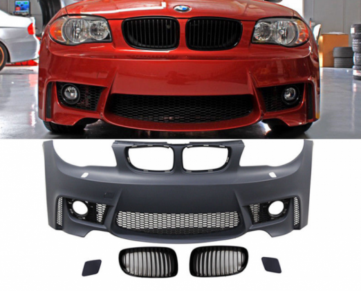 BMW 1 Series front bumper upgrade to 1M