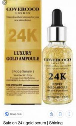Anti Aging Serum ...Product manufactured in London with 24K Gold particles