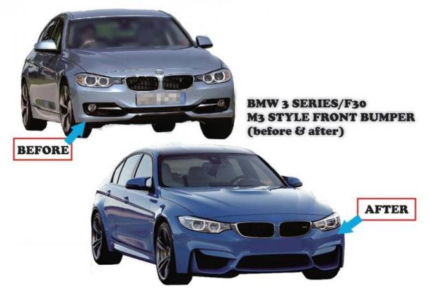 BMW F30 2012-2017 front bumper M3 Style