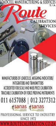 Loadcell Manufacturing Services(Pty) LTD t/a Route Calibration Services
