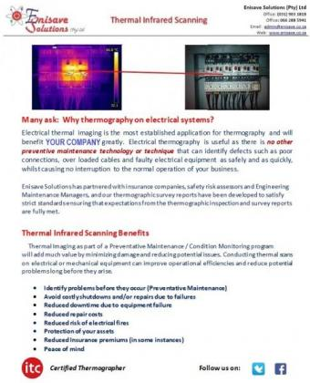 Thermal Infrared scanning on all electricals