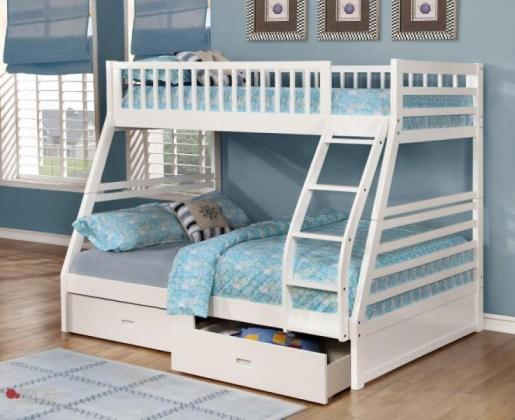 Twin full Bunk Bed with Storage