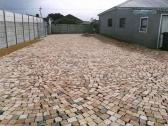 Half brick paving both commercial and industrial