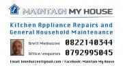 Kitchen Appliance Repair / General Household Maintenance in PE - Good Price, Good Quality Service!