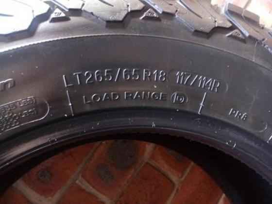 265/65R18 BF GOODRICH A/T TYRES FOR SALE