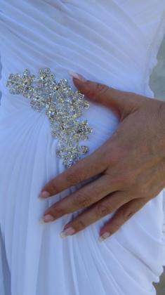 Beautiful White Chiffon Wedding Dress in Pretoria, Gauteng