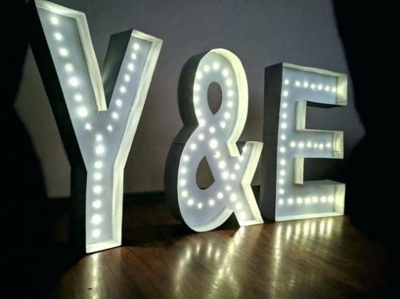 Marquee Letters with lights HIRE