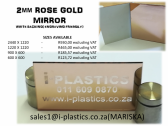 2mm ROSE GOLD MIRROR