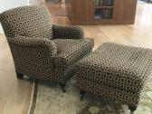 Custom Chair & Ottoman - Immaculate Condition