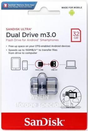 Brand new Sandisk Ultra m3.0 32GB USB3.0 Dual Drive