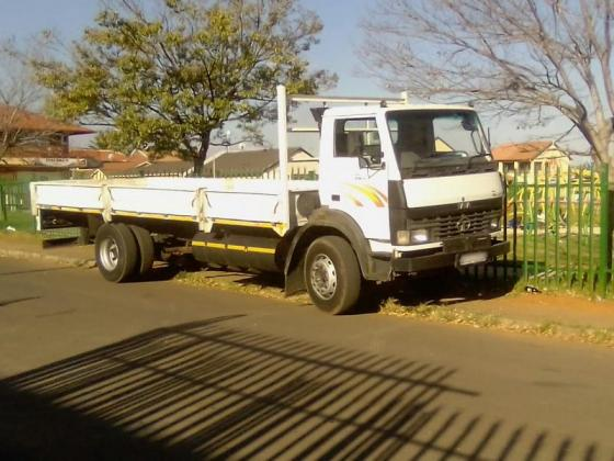 Truck available for hire.