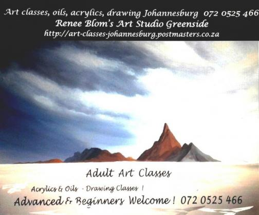 Art Lessons Oils & Acrylics and Drawing classes Greenside 0720525466