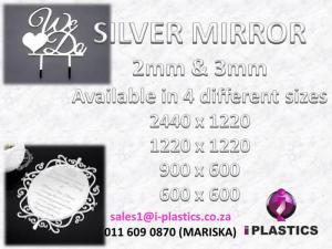 2mm & 3mm Silver Mirror Acrylic